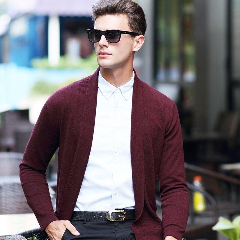 Cardigan De Noir Mode Qualité Tricoté gris Et Couleur Laine Automne Vêtements Hommes Solide Pure Survêtement D'hiver Chandail Haute 100 Le d0zqUn8pz