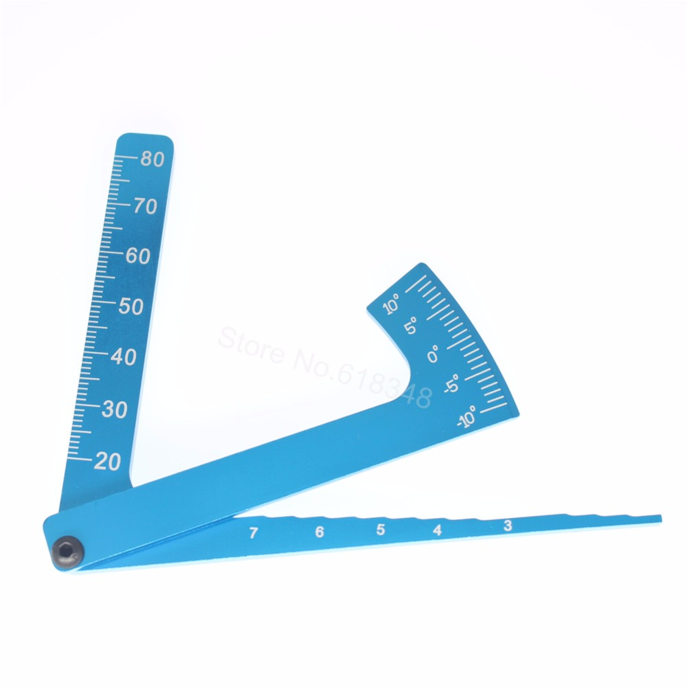 Angle Adjustable Ruler 3 in 1 Camber Gauge Metal For all 1:8 1/10 On Road RC Car Tires & Wheels Tools adjustable ruler measure rc car height
