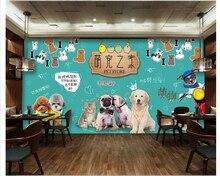 Custom senior wallpaper cute poodle pet dog puppy modern simple papel de parede for walls 3 d behang