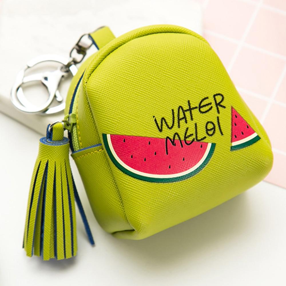 Coin Purse Tassel Mini Wallet Pouch Women Girls Cute Fruit Pattern Bag Fashion Snacks Wallet Bag Change Pouch Key Holder Girls philips hd3197 03