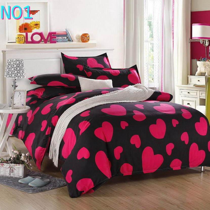 Красивые Облака Стиль хлопковый комплект постельного белья, постельное белье набор 3/постельного белья из 4 предметов, комплект с надписью «розовый», цвет бел - Цвет: Белый