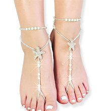 Bohemian Sexy Starfish Anklets Beach White Sea Star Barefoot Sandals Bead  Chain Anklet For Women Bridal 19ddad70ac5a