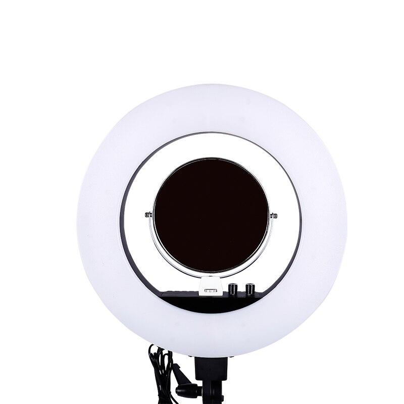18 pouces 480 pièces led 5500 K Dimmable Photographie Photo/Studio/Téléphone/Vidéo led lumière annulaire Lampe Avec miroir Pour Appareil Photo
