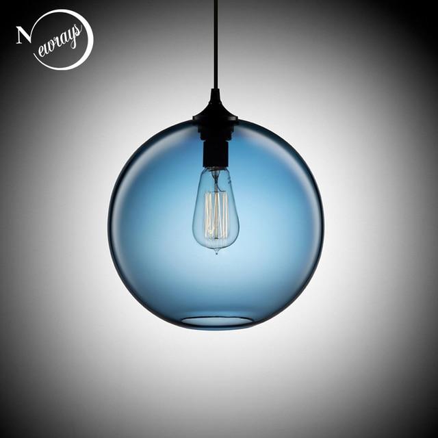 Loft Weinlese antike Industrial 6 Farbe Glaskugel Anhänger Leuchten ...