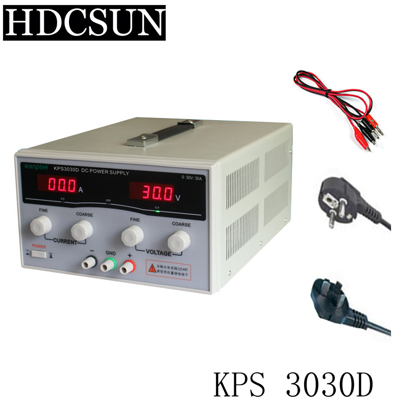 New KPS3030D High precision High Power Adjustable LED Dual Display Switching DC power supply 220V EU 30V/30A