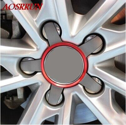 4 UNIDS Modificado círculo rueda cubierta de círculo brillante - Accesorios de interior de coche - foto 1