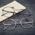 NOSSA Marca Designer Rodada Óculos Armação de Metal Óculos de Armação Miopia Óculos Frames Do Vintage Lente Clara