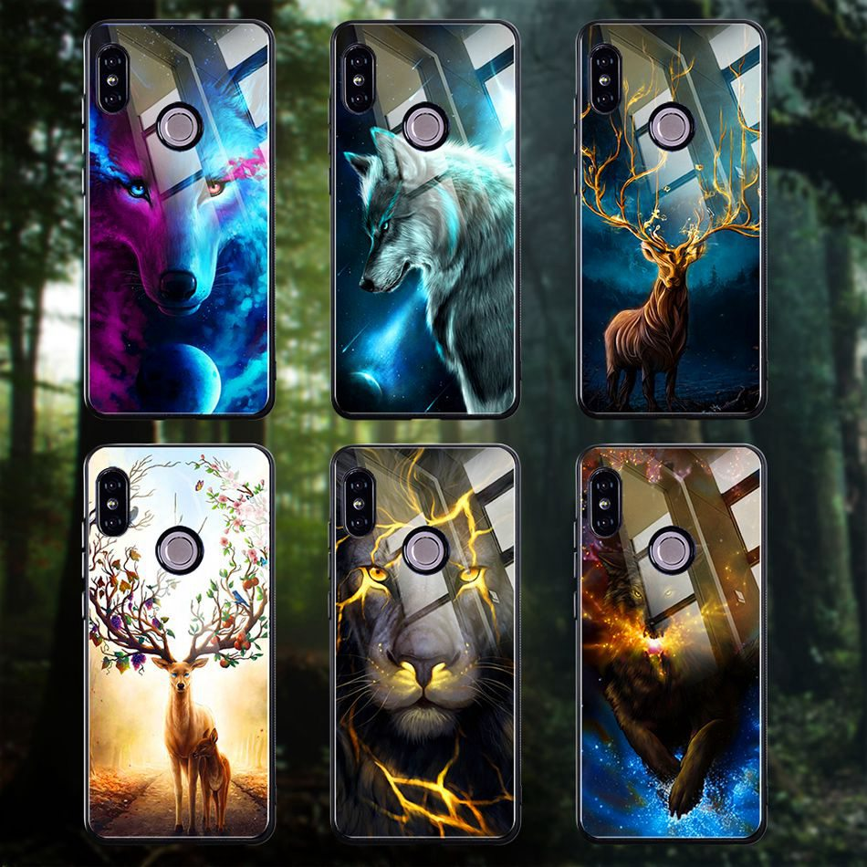 Tempered Glass Case For Xiaomi Redmi Note 5 5 Pro 5 Plus Note 4X Case Luxury Animal Pattern Case For Xiaomi Mi 8 A1 5X Coque     (15)