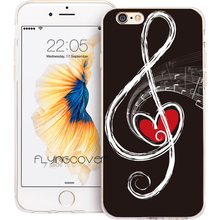 Musical Notes Silicone Phone Case Iphone 6 7 8 Plus