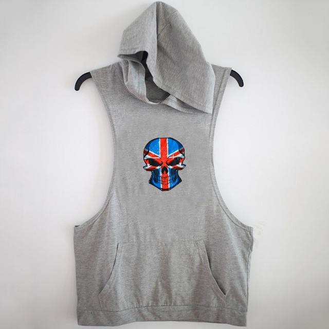 Mens Sleeveless Hoodie T Shirt Hooded Tank Top Cotton Hoodies Tee ...