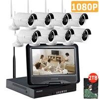 Full HD 8CH NVR 1080P Wireless CCTV System Kit 2 0MP Outdoor IP Camera Waterproof IR