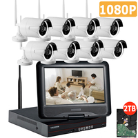 Full HD 8CH NVR 1080P Wireless CCTV System Kit 2 0MP Outdoor IP Camera Waterproof IR