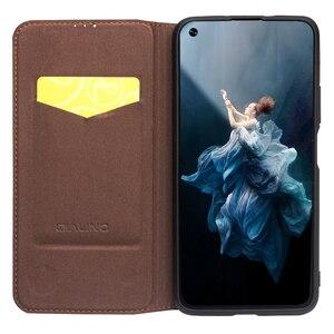 Image 5 - QIALINO יוקרה אמיתי עור Flip Case עבור Huawei Honor 20 טהור בעבודת יד כיסוי עם כרטיס חריץ לכבוד 20 פרו 6.26 אינץ