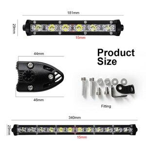 Image 4 - roadsun 7 13 inch Slim LED Light Bar Single Row 18W 36W 12V Daytime Running Light For SUV 4X4 Off Road LED Work Light Lamp
