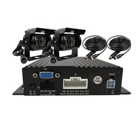 Free Shipping 4 Channel 720P AHD Real Time Recording SD Car DVR MDVR 2 Pcs Night