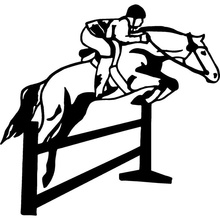 15.6cm*15cm Jumping Horse Pony Mare Car Stickers Car Styling Vinyl Decals Motorcycle Accessories S6-2765