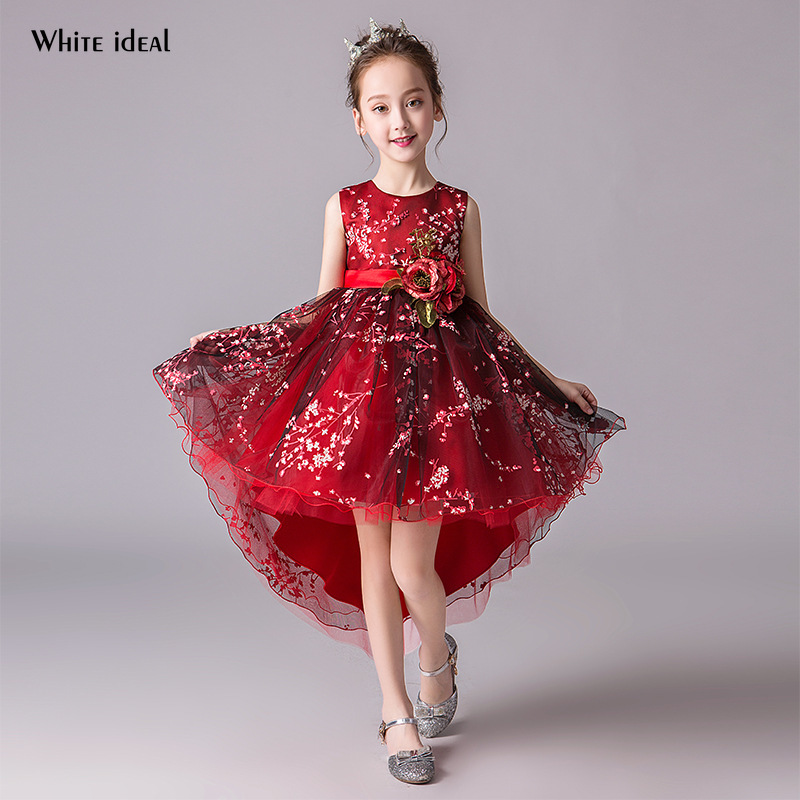 Flower Girls Dresses for Party and Wedding Butterfly Lace Kids Dress First Holy Communion