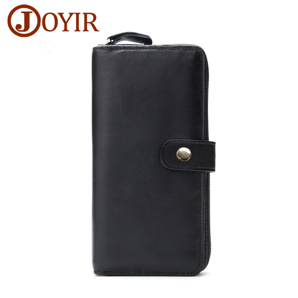 JOYIR New Arrival Men Genuine Leather Wallet Purse Long Hasp zipper wallet Handbag Clutch Bag Coin Purse Money Card Holder 9371