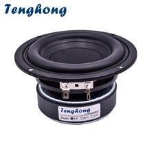 Tenghong 1 pçs 4 Polegada subwoofer alto-falante 4/8ohm 40 w alto-falante alto-falante alto-falante de alta fidelidade estante woofer unidade magnética de cinema em casa