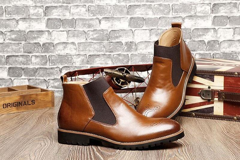 YIGER Men's Chelsea Boots 14