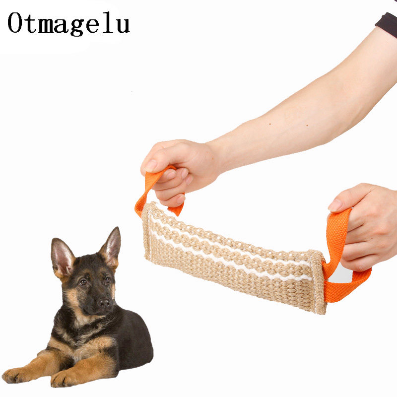 Dog Bite Training Sticks Pillow Pad Tug Chewing Toys With Handles Protection cover Interactive for Police Behavior Training Tool