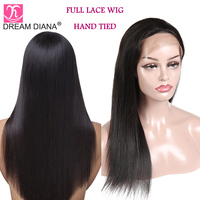 DreamDiana Brazilian Straight 360 Wig 150 Density Remy 360 Lace wig Pre Plucked With Baby Hair 100% Human Hair Glueless Lace Wig