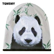 Sombrero Unisex 3D panda patrón bonnet hombres Hip Hop cap Plus velvet  esquí doble capa gorro invierno turbante sombreros para l. bd2128de5a2
