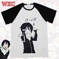 Camiseta anime japonês noragami yato aragoto camisas unissex casual respirável de manga curta encabeça tee harajuku clothing wxc
