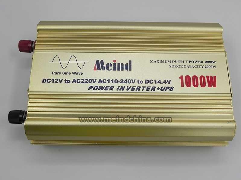 Gorący sprzedawanie czysta fala sinusoidalna wbudowana ładowarka UPS DC 12V do AC 220V ciągły 1000W szczyt 2000 przetwornik mocy watt