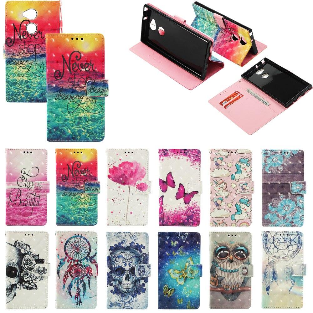 Flip Case For Google Pixel 3 XL Flower Unicorn Painting Pattern Flip Stand Case For Google Pixel 3 Wallet Phone Cover Card