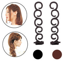 2 pcs Flower Magic Hair Clip Stylist Queue Twist Plait DIY Hairstyle Styling Accessories Brown French Elegance Hair Braider(China)