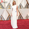 Karlie Kloss Oscars 2017 White Celebrity Evening Dresses Long Sheath Special Occasion Dress Prom Party Dress High Split Gowns