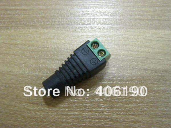 100pcs Black Femal DC Power Connector for 5050 3528 FLEXIBLE LED STRIPS Free shipping