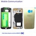 S6 S6 Край Передняя Рамка + Ближний Рамка + Крышка батареи обложка Для Samsung Galaxy G920 G925 Полный Жилищно Замена с Логотипом