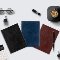 Deli Notebook 16K 160sheets Business Notebook Student Writing Books Office PU Cover Planners Notebook School and Office Supplies