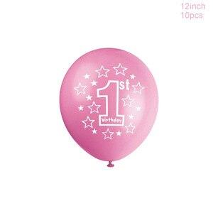 Image 3 - LAPHIL ベビーシャワー 10 個ラテックス紙吹雪バルーン少年少女 1st 誕生日風船私の最初の誕生日パーティーの装飾私は AM 1