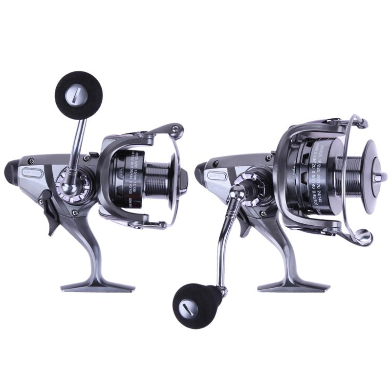New Saltwater 10+1 BB Drag Power Carp Spinning Fishing Reel with Extra Spool Aluminum Spool Folding Arm Spinning Reel Promotion