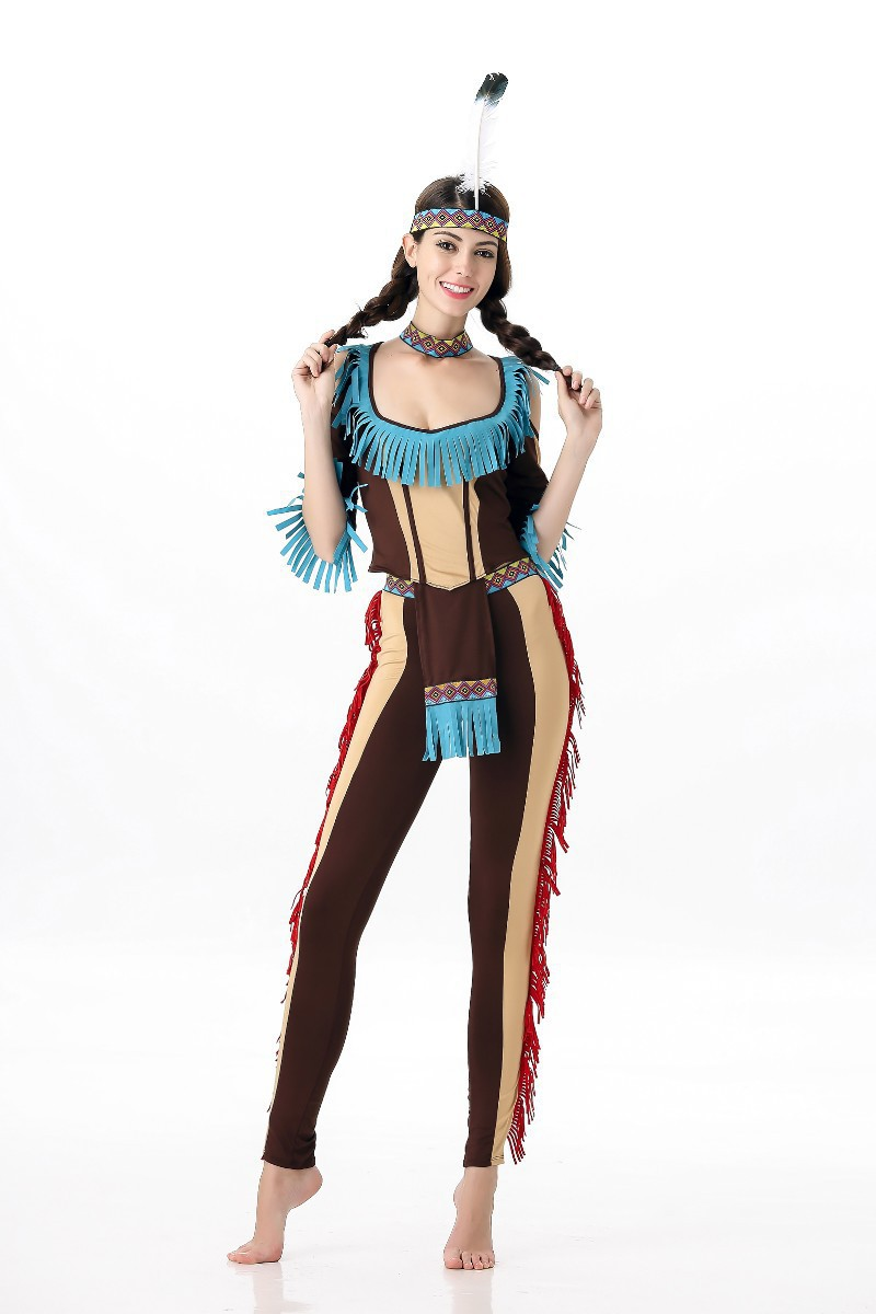 8268fa16f43 Women Sexy Halloween Indians Cosplay Costume Carnival Party Fancy Dress  Women India Dance Costumes American Indian on Aliexpress.com