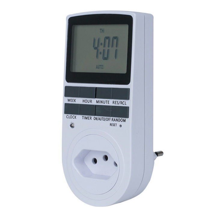 250V 16A Timer Switch Socket Electronic Digital BR Plug-in Programmable 7 Day 12/24 Hour Timer Switch Socket