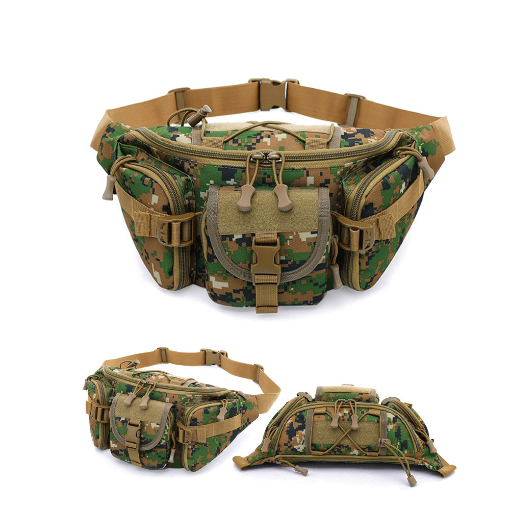 Outdoor Military Army Tactical Waist Pack Trekking Sport Travel Rucksacks Pocket Bag Camping Hiking Trekking Camouflage Backpack