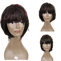 Synthetic Lace Front Braided Lace Front Wigs Box African American Micro Braided Wigs 12""
