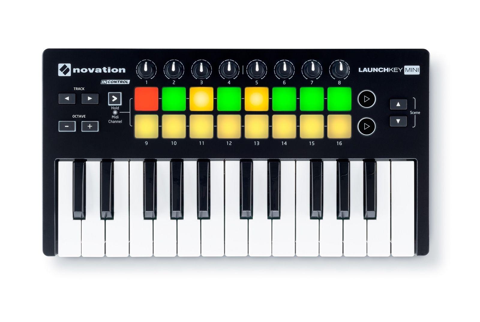 Novation LAUNCHKEY MINI MK2 25 Key USB Ableton Live Lite Keyboard Controller