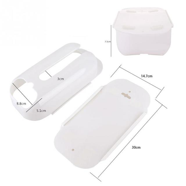 Two Style Three Colors  Home Useful Wall Mount Plastic Carrier Bag Storage Container Holder Organizer Recycle Box
