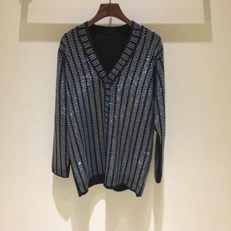tricô frisado decote sweater