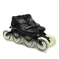 EUR size 30 44 Zico Speed Inline Skates Carbon Fiber Competition Skates 4 Wheels Street Racing Skating Patines 4 Colors