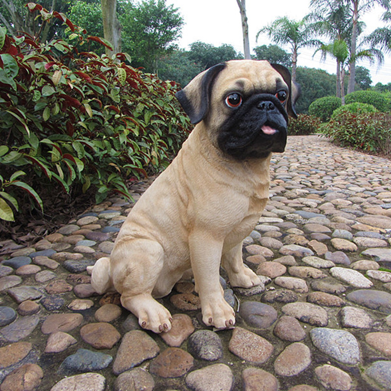 30cm Vivid Poly Resin Loyal Cute Pugs Home And Garden Decoration Resin Pet  Dog Statue Garden In Figurines U0026 Miniatures From Home U0026 Garden On  Aliexpress.com ...