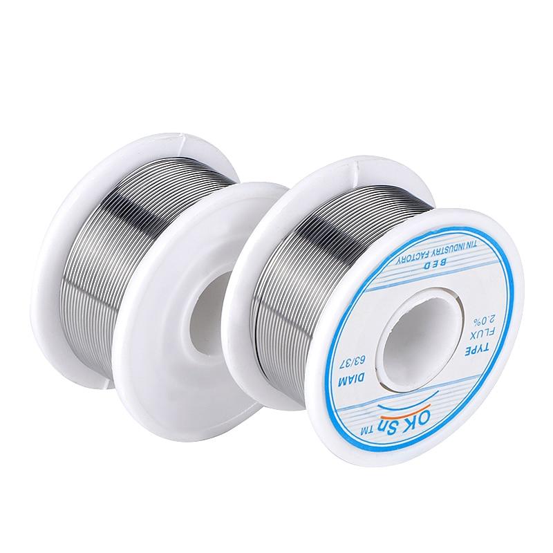חלקי חילוף לקטנועים 1.0mm 0.8mm חוט הלחמה 100g JCD 1.5mm 63/73 טין להוביל 45FT השטף 2.0 חוטים ממיסים רוזין Core Desoldering הלחמה הלחמה חוט כלי (4)