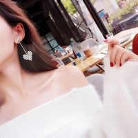 2019 Nova Moda Coração Branco AAA Brincos Zircão Do Parafuso Prisioneiro Para As Mulheres Das Senhoras Da Menina de Aniversário Presentes de Casamento Festa de Jóias Por Atacado