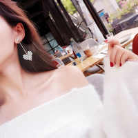 2019 di Nuovo Modo Bianco Cuore AAA Zircone Orecchini con perno Per Le Donne Della Ragazza Delle Signore Festa di Compleanno di Nozze Regali di Gioielli All'ingrosso