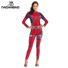 Nadanbao Super Hero Deadpool Kostum Cosplay Anime Baju Kostum Halloween untuk Wanita Plus Ukuran Jumpsuit(China)